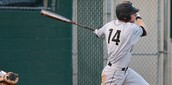 UCF baseball player, Tommy Williams, takes a swing