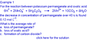 Example 2 using stoichiometry to equate rates