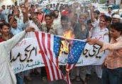 Taliban burning American flag