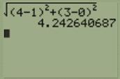 Distance between A,D