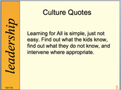 Culture Quote Connection: