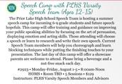 Summer Speech Camp!