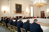 Meeting in the State Dining Room