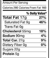 Banana Pudding Nutrition Facts