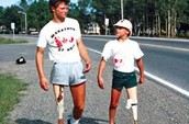 Terry Fox with Greg