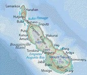 This is a map of the island that has been blockaded.