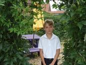 Weston in the garden