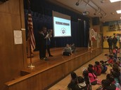 Pillow 5th graders share books reports @ W.A.R.P. Wednesday assembly!