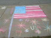 Mrs. Kinney's Class - Winner of the Sidewalk Design Contest