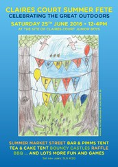Summer Fete on Saturday 25 June
