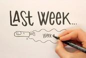 LAST WEEK
