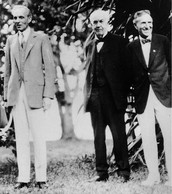 Henry Ford, Thomas Edisn, and Harvey Firestone