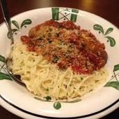 famous spaghetti meal