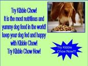 Kibble Chow Dog Food