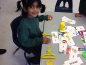 Play dough word building