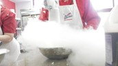 This is the ice cream making process