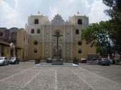 Large Catholic church in Antigua, Guatemala