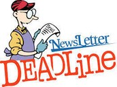 January 2016 Newsletter Deadline