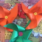 Here are some pinwheels we've made