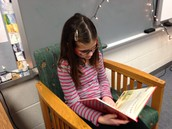 McKenzie reading towards her AR goal
