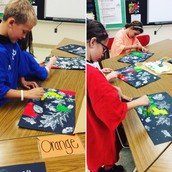 Second grade Texture Paintings