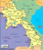 A Map of Laos