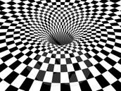 3D Black & White Checkered Vortex