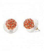 Soiree studs coral