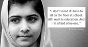Malala's POV about the topic