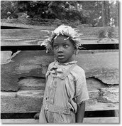 Child struggling through The Great Depression.
