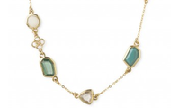 Pippa Layering Necklace - Green