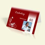 Stilvoll feiern mit der Feierkarte zum 60 Geburtstag