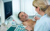 Ultrasound on chest