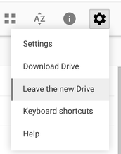 New Google Drive User Interface (UI)