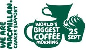 Macmillan world's Biggest Coffee Morning 25th September
