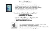 5th grade Ipad rollout
