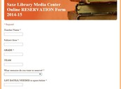Want to reserve resources in the media center?