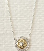 Pave Clover Necklace