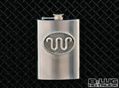flask with the Ranch symbol