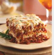 Lasagna is Mashells favorite food