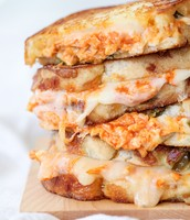 Our famous buffalo chicken and pepper jack cheese sandwitch