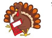 Bookfair & Thanksgiving Lunch Information