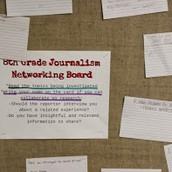 8th grade journalism collaboration
