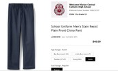 Marian Uniform Pants:  MC-Embroidered