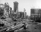 Downtown after the earthquake