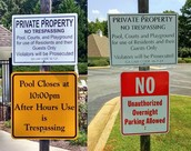 OVERNIGHT VISITORS & CAMPERS/RVs PARKED IN THE STREET or AT POOL PARKING LOT - VISITOR PARKING PASS REQUIRED - NO EXCEPTIONS