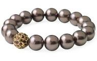 Soiree Pearl Pave Bracelet - Brown - SOLD