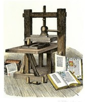 An Illistration of the Printing Press in 1450's
