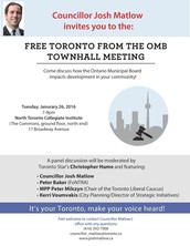 FREE TORONTO FROM THE OMB---TOWN HALL MEETING
