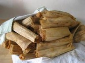 Lower strata families eat chicken or homeade tamales